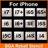 Wholesale Bga Reballing Stencil Kit - 12 Pcs lot IC Chip BGA Reballing Stencil Tool Kits Set Solder template for iphone 4 4s 5 5s 6 6s+ SE 7 7+