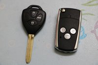 Wholesale New Housing Remote Car Key - 2017 New Free Shipping Car Key With 3 Buttons Fob Replacement Blank Cover Flip Folding Remote Key Shell Housing For Toyota Camry Logo