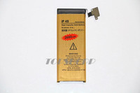 Wholesale 4s Gold Battery - High Quality High Capacity Battery 2680mah Gold Replacement Li-ion Battery for iPhone 4S 4G 5 5G 5S 5C 4GS Battery with Flex Cable DHL