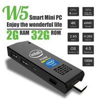 Wholesale W5 Mini PC Windows with Bing Computer Stick Intel Z3735F Quad Core GHz GB RAM GB ROM H with Built in Wifi Bluetooth DHL