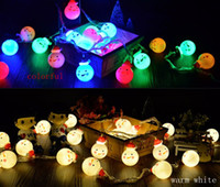 Discount small white led battery - Snowman LED String Lights LED Decorative Light bedroom small lantern flash string lights red hat snowman light string