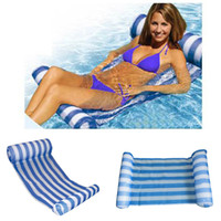 Summer Inflatables Pool Float Swimming Floating Bed Water Hammock Recreation Beach Mat Matelas Lounge Bed Chair Pool