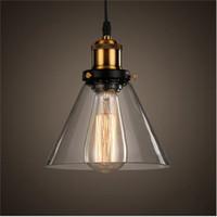 ingrosso ciondolo lampadine rame rame-New Vintage Clear Glass Pendant Light Lampade a sospensione in rame E27 110 / 220V Lampadine per la decorazione domestica Ristorante Luminarias Abajour