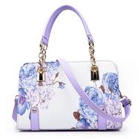 Wholesale Flower Laptop Bags - 2016 new printing Europe Fashion Ladies Handbag Shoulder Messenger Laptop bag type