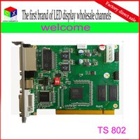 best led rgb full color  - wholesale TS802 rgb full color synchronous led display controller linsn sending card