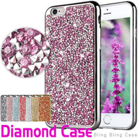 Wholesale Iphone Leather Luxury - For iPhone 8 Galaxy ON5 jewelry Case Diamond TPU Case For Iphone 6 Cases S7 Crystal Luxury Glitter Bling Flash Power Soft Case Opp Bag