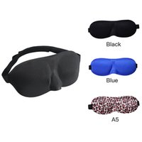 Wholesale Padded Blindfold - Travel 3D Eye Mask Sleep Soft Padded Shade Cover Rest Relax Sleeping Blindfold