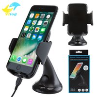 Wholesale Galaxy Car Mount - 2018 Wireless Car Mount Charger Antye Vehicle Qi Wireless Charging Dock for Samsung Galaxy s7 edge s8 plus note8 iphone 8 X with package