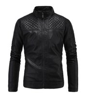Wholesale Fine Leather Jackets - Man the spring and autumn period and the han edition of the new trend of fine diamond personality big yards leather jacket L - 3 xl