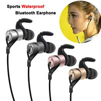 Wholesale Ear Magnets - D9 Sports Wireless Bluetooth Earphone HIFI HD Stereo Anti-Sweat Metal Magnet Headset In-Ear Running Headphone With Mic for Android IOS Phone