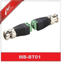 Wholesale Terminal Coaxial - Cat5e 6 Terminal To BNC Male Coaxial Video Balun Connector Adapter(5Pairs)