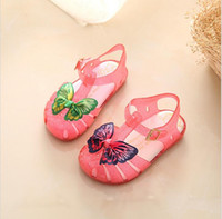 Wholesale jelly shoes for babies - Melissa Jelly Sandals For Baby Girls Kids Double Butterfly Boys Cartoon Shoes Sandalia Infantil Sandals Melissa Menina