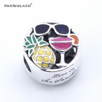 Wholesale Pandulaso Summer Fun Fruit Beads for jewelry making Fits Pandora charms Bracelets For Woman DIY Charms Silver Jewelry Summer