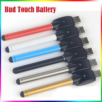 Wholesale E Cig Pen Battery - Bud Touch Battery O Pen CE3 Vape Touch Battery 280mAh E-cig 510 Thread E Cigarettes Fit For Wax Oil Cartridge Vaporizer