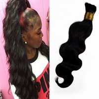 Wholesale Real Human Hair Bulk - Malaysian Hair Natural Color Body Wave 100% Real Human Hair Bulk No Attachment Can Be Dyed FDSHINE
