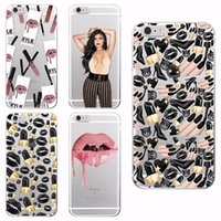 Wholesale Sexy Lips Iphone Case - Sexy MakeUp Lips Lipstick Kylie Jenner Cosmetics Soft TPU Case Fundas For iPhone 7 6 6S Plus 5 5S SE 5C SAMSUNG LG ZTE