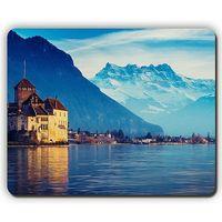 Wholesale Mountain Office - mouse pad,switzerland lake geneva city mountains snow,Game Office MousePad