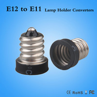 Wholesale Light Bulbs Cfl Free Shipping - hot sale lamp holder E12 to E11 CE & RoHS flame retardant PBT Led CFL light bulb E12-E11 adapter free shipping