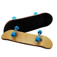 Wholesale Truck Board Skateboard - Fun Wood Finger Skateboard Board Deck Truck Skateboard Boy Child Toy Party Wheel Blue White Black Red Yellow Delivery Random A233