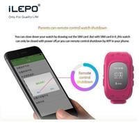 teléfonos de banda cuádruple al por mayor-2017 OLED Q50 Niño GPS Tracker para niños Smartwatches SIM Quad Band GSM Safe SOS Llamada relojes inteligentes para teléfonos android