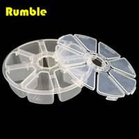 Wholesale Parts Organizer Box - Wholesale-8 Slots Grids Storage Box Case Organizer Display Bead Makeup Clear Round Screw Jewelry Sewing Rings Spare Part DIY Tool Box