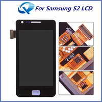 Wholesale Replacement Lcd S2 - For Samsung Galaxy S2 i9100 LCD Digitizer Touch Screen Replacement Display With Full Assembly High Quality