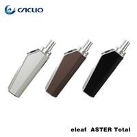 Wholesale Used E Cigarette - Eleaf ASTER Total Kit 1600mah with 2ml Capacity tank 25w Max Out Put use IC 1.1ohm Heads ASTER e cigarette kits