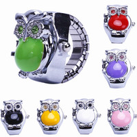 about 25mm owl ring adjustable - 2PCS mm Fashion owls set auger The adjustable ring watch colors