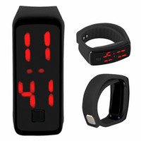 Wholesale Cheapest Digital Watches - Cheapest LED Digital Watch Sport Silicon LED Watch Wristband Wen Women Children Sport Watch For Gift