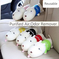 Wholesale Dog Air Freshener - Free Shipping !!! Car Air Freshener Cute Dog Activated Bamboo Charcoal Bag Home Absorb Odor Deodorant Your Best Choice