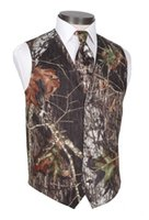 Camo Groom Vests V Neck Men's country Wedding Outerwear Vest Camouflage Slim Fit Men's Vests(Vest+Tie) Custom Made Father And Son