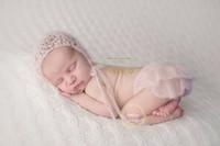 Wholesale Baby Photo Props Mohair - Baby girl divided skirt photo prop Newborn mohair pink pantskirt photography prop