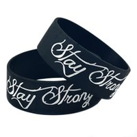 Wholesale Flexible Silicon Ships - Wholesale Shipping 50PCS Lot Stay Strong Silicon Bracelet, It' Soft And Flexible Great For Normal Day To Day Wear