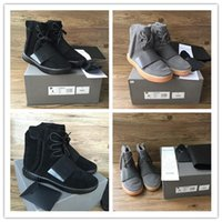 Wholesale Skateboard Shoes Winter - 2017 Original Men Women Boost 750 Blackout Outdoors Sneaker,Kanye West shoes Hot Selling 750 Boost, Skateboard Shoes,High Shoes