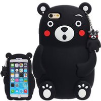 Wholesale I5 Silicone Cases - Case For For i5 i6 i7 Plus Cute 3D Catoon Lucky Kumamon Bear For iPhone 5 5S SE 6 6S 7 7 Plus Phone Cases Soft Silicone Covers
