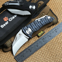 Wholesale bears claws for sale - Group buy Bear claw original Parrot ball bearing Tactical folding knife D2 blade G10 Handle outdoor Hunting camping survive pocket knives EDC tool