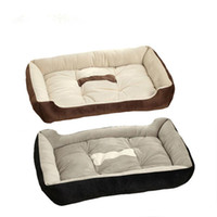 Wholesale Cotton Cat Houses - Black coffee Fashion Pets Beds Dogs Soft House Cotton Pet Beds Large Pets Cats