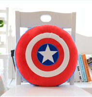Wholesale Plush Animal Chairs - 0803 HANCHENEXP 6 Plush The Avengers Round Cushion Boys Sitting Chair Sofa Cushion Home Deor Cushion The Avengers Round Pillow Toy for Kids