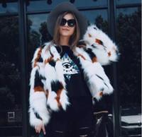 Wholesale Cashmere Short Coats For Women - New 2017 Winter Fashion Slim Faux Fur Coat For Womens Long Sleeve Warm Short Imitation Fur Jackets Plus Size 3XL Fur Vest FS3084