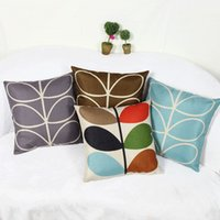 Todos New New Leaf Pattern Throw Pillow Case Linen Cobertura decorativa do travesseiro Cobertura da almofada da cintura para o sofá-cama Car Office 45 * 45CM