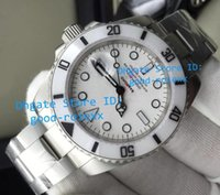Wholesale Finish Model - Top Model AAA Mens Automatic 2813 Sapphire Watch Men White Ceramic Bezel Dive Watches Sport Full Matte Finish Steel Luminous Wristwatches