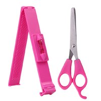 Wholesale Scissors Bangle - Wholesale- 1set Hair Styling Tools Hair Scissors Cutting Thinning Shears Bangle Trimmer DIY Hairstyle Cutter Clip with Razor Edge for Women