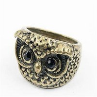 Wholesale Cheap Anniversary Rings For Women - Mens Rings Owl China Vintage Silver Jewelry Fashion Rings Jewelry Cheap China Jewelry Fashion Rings Cheap for Women DHL Free