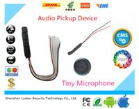 Wholesale Camera Amplifier - CCTV Clear High Sensitive quality Audio Pickup Device Tiny Microphone for Security Camera Two stage amplifier waterproof