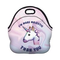 Wholesale unicorn Dessert coffee office pouch Thermal Insulated Neoprene Lunch Bag Women Kids Lunchbags Cooler Insulation Lunch Box