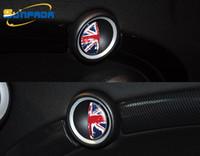 diseño de pegatinas de puerta de coche al por mayor-Más nuevo diseño interior manija de la puerta decoración del coche que labra las etiquetas engomadas del coche para BMW MINI COOPER S R55 / R56 / R57 bandera nacional de dibujos animados