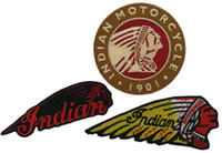3pcs set 1901 INDIAN MOTORCYCLE Biker Club MC Front Jacket Vest Patch Detailed Embroidery Free Shipping