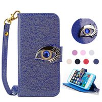 Wholesale Eagles Iphone - Iphone 6 Wallet Case Eagle Eyes Card Holder For iphone se 6 6s plus Samsung galaxy S5 S6 edge Note 5 Opp Bag