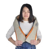 Wholesale Massage Pillow Neck Massager - New Arrival Home And Car Dual-Use Infrared Cervical Massage Shawls Pillow Shiatsu Kneading Neck And Shoulder Massager Body Massager
