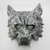 Wholesale devil face for halloween for sale - Group buy Great Quality Horror Wolf Head PU Mask Masquerade Cosplay Bar Performances Decorations Devil Masks For Halloween Party NightClub